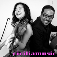 watch guitar and violin videos of Diangelo and Mariko Cicilia on Youtube